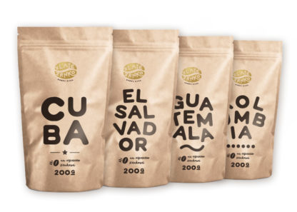 Káva Zlaté Zrnko - Spoznaj prémiové odrodové 800g (Cuba, Guatemala, Kolumbia, Indonézia)