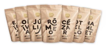 Káva Zlaté Zrnko - Spoznaj zmesi 1400g (Rómeo, Júlia, Cézar, Emília, Otello, Olívia, Hamlet)