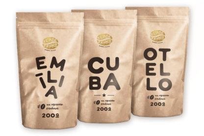 Káva Zlaté Zrnko - Spoznaj TOP 3 kávy 600g (Emília, Cuba, Otello)
