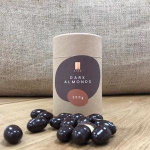 Lyra čokoláda - Dark Almonds - mandle v horkej čokoláde 200g