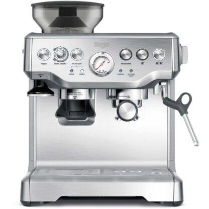 Sage BES870 pákový kávovar s integrovaným mlynčekom strieborný