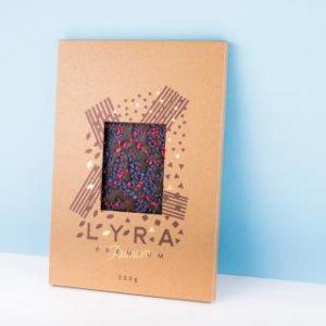 Lyra Čokoláda - Premium dark - A4 čokoláda s posypom