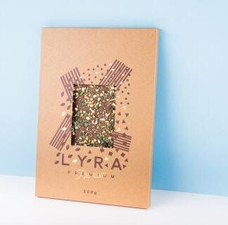Lyra Čokoláda - Premium milk - A4 čokoláda s posypom