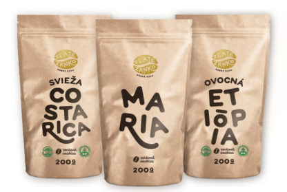 Káva Zlaté Zrnko - Spoznaj na filtrovanú kávu 600g (Mária, Costa Rica, Etiópia)